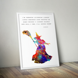Wicked Witch Quote, Watercolor Painting Print, Wizard of Oz, A4 size 8.3 x 11.7