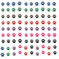 Paw Prints  Nail Decals