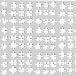 Puzzle   ( White  )  Press on  Nail Stickers