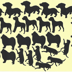Dog  Vinyl Decal Stickers (Black )  Peel and Stick