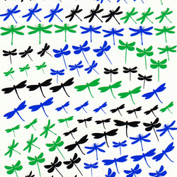 Dragonfly ( black  Green Blue) Press on Nail Stickers