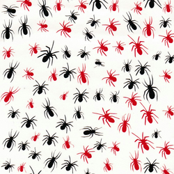 Spider ( Black and Red ) Press on Nail Stickers