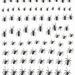 Spider ( Black  ) Press on Nail Stickers