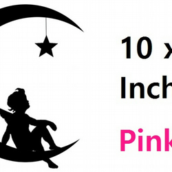 Angel On A Moon ( pink  ) Vinyl Stickers