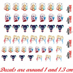Harley Quinn Suicide Squad Nail Decals
