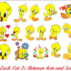 Tweety Temporary Tattoo