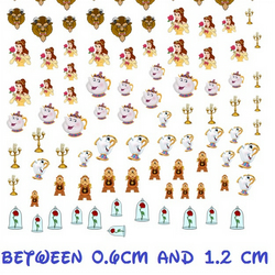 Beauty and the Beast  Nail Decals