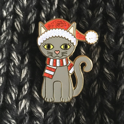 Cute Catsmas Kitty Christmas Enamel Pin