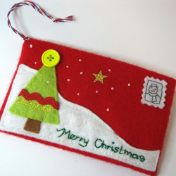 Christmas Felt envelope