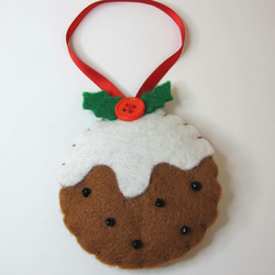 Christmas felt Pudding decoration