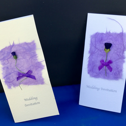 Scottish Wedding Stationery (Thistle & Mullberry paper) Handcrafted Day & Evenin