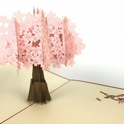 Cherry blossom Fantastic Flower Handmade Kirigami & Origami 3D Pop UP Greeting C