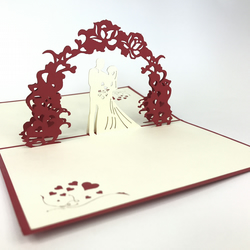 """Wedding Day"" 3D Pop Up Greeting Cards Anniversary Baby Birthday Easter Hallowee"