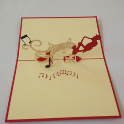 Saxofonist 3D Pop Up Greeting Card Handmade Happy Birthday Wedding Anniversary F