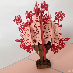 Ornate Floral Boutique Fantastic Flower Handmade Kirigami & Origami 3D Pop UP Gr