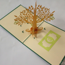 Money Tree Euro Sterling Dollar Many Rose Handmade Creative Kirigami & Origami 3