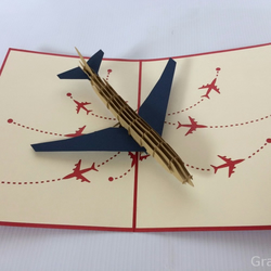 airplane v2 3D pop up cards vintage air plane creative gifts postcard birthday v