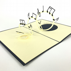 music notes 3D Pop Up Greeting Card Handmade Happy Birthday Wedding Anniversary