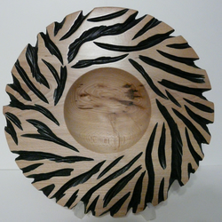 wooden carved bowl