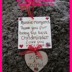 CHILDMINDER personalised handmade thank you gift new
