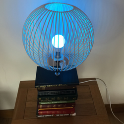 Steampunk Stacked Books Table Lamp