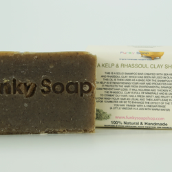 1 piece Sea Kelp and Rhassoul Clay Shampoo Bar, 100% Natural Handmade aprox.65g