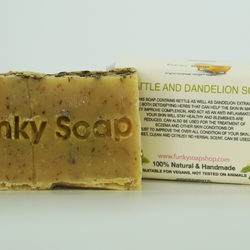 1 piece of Nettle and Dandelion Soap 100% Natural Handmade 65g