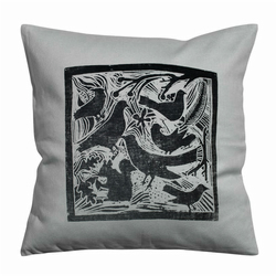 Birds and Gang Cushion Cover