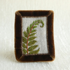 Fern - hand stitched brooch