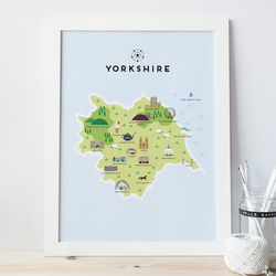 A4 Map of Yorkshire