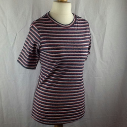 Stripe Soft knit t-shirt, short sleeves size 10-12