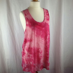 Pink lace back burnout jersey top size 10-14