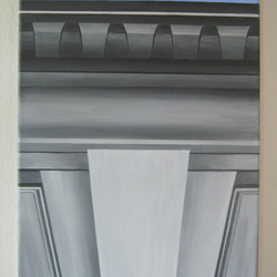 Acrylic artwork of architectural detail, contemporary canvas art