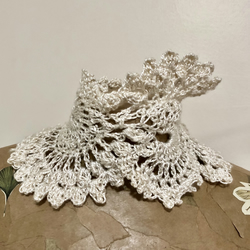 Victorian Inspired 'Clockwork' Silk Wedding Choker Necklace Hand Crocheted Lace