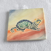 WP28 Wall plaque tile ferret picture