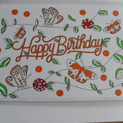 Coloured In Happy Birthday Card