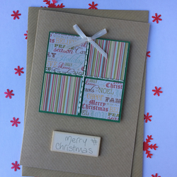 Hand Stitched Christmas Present Card