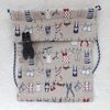 Useful Peg Bag in Washing Line Motif Fabric Laundry Peg Bag Great Gift