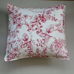 Red and cream cushion