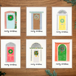Christmas Card Set of 6 - Hand Drawn Christmas Card - Christmas Card Pack