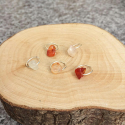 5 Citrine Chip Hair Clips, Dreadlock Charms