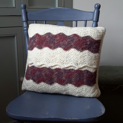 Crochet Wool Cushion
