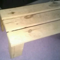 Hand made wooden reach step