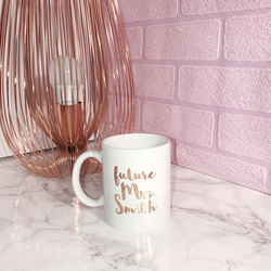 Personalised Rose Gold Future Mrs Mug