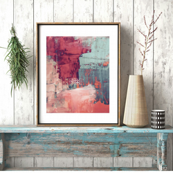 A Digital Print of an Original Painting with Pinks - Romance