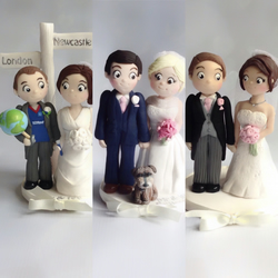 Personalised Clay Wedding Cake Topper