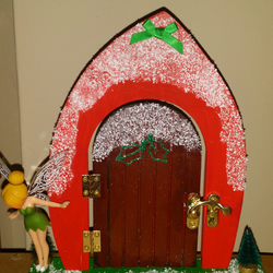 Christmas fairy door