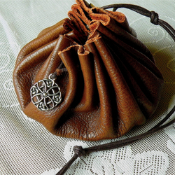 CoinPouch,Leather, Medieval