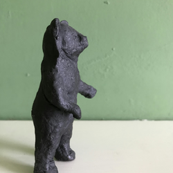 Little ceramic pottery bear sculpture