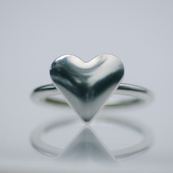 Handmade Sterling Silver Heart Ring Size UK-K London Hallmarked